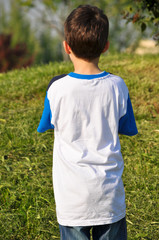Rear view of a child