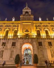 Padua - Palazzo del Podesta at night.