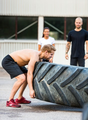 Athlete Flippng Tractor Tire