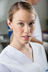 Female Technician In Laboratory