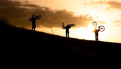 bisiklet ile zirveye çıkmak