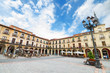 Scenic view of Leon Major square. Leon, Spain.