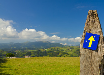 The Camino de Santiago or the Way of St. James, Askizu, Gipuzkoa