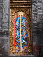 Decorated door in the temple