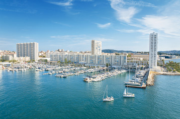 Toulon harbor, France.