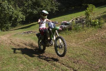 Dirt bike wheelie
