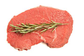 Fresh beef and rosemary