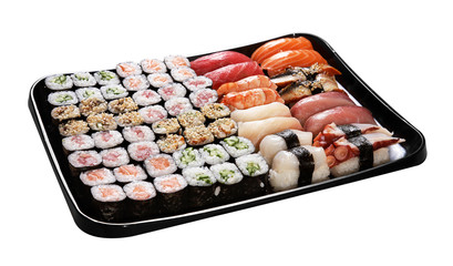 Set of Japanese sushi