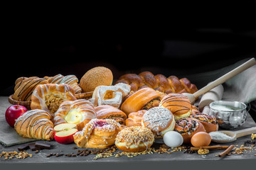 Assortment of sweet bakery