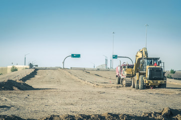 New highway road construction