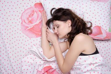 Sleeping young girl