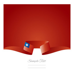 Abstract background Taiwanese flag ribbon