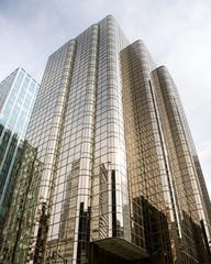 glass skyscrapr rising skyward, Vancouver, BC