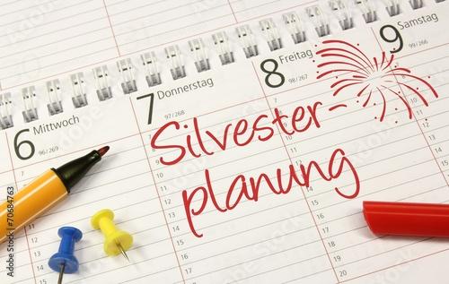 canvas print picture Silvester Kalender