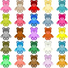 Colored Teddy Bear