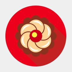 Векторный значок с изображением пироженым