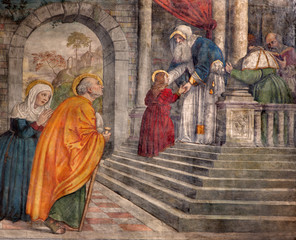 Padua - Presentation in the Temple in church San Francesco