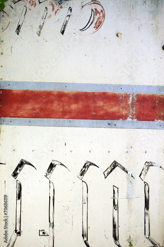canvas print picture Bemaltes Blech