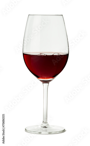 Glass of Red Wine on White - 70686335