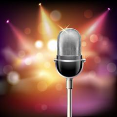 Retro microphone background