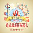 Leinwandbild Motiv Vintage carnival poster