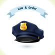 Leinwandbild Motiv Law icon police hat