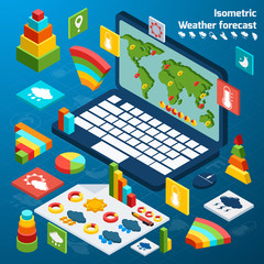 Weather isometric icons