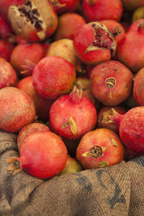 organic pomegranates for sale at the Farmers Market
