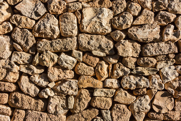 Old stone wall surface