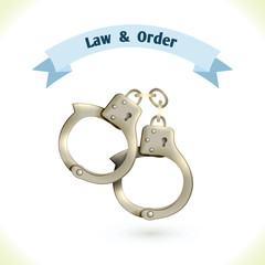 Law icon handcuffs
