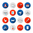 Plumbing icons set - 70688163