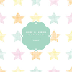Stars textile textured pastel frame seamless pattern background