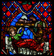 Nativity Scene Stained Glass in Tours Cathedral