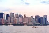 New York City Manhattan downtown skyline