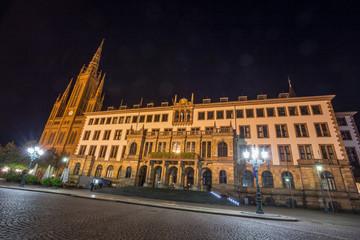 city hall wiesbaden at night