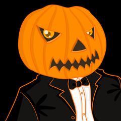 pumpkin man portrait