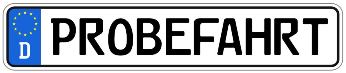 Probefahrt Schild  #140925-svg07