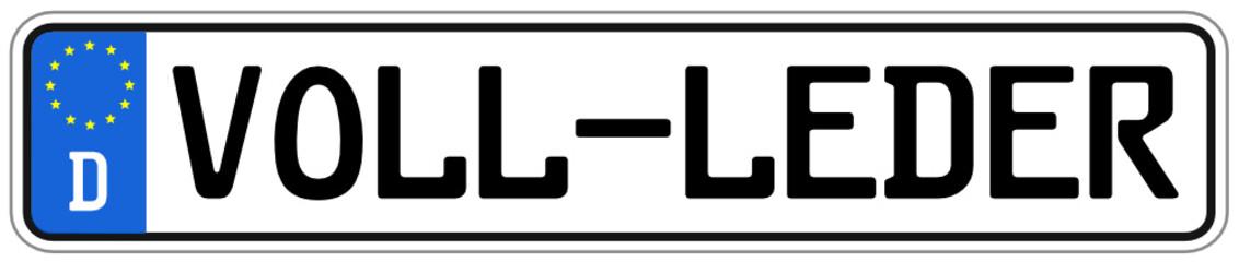 Leder Auto Schild  #14092svg11