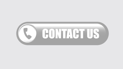 Black contact us button on white background