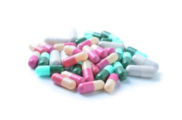 medicinal capsules, pills