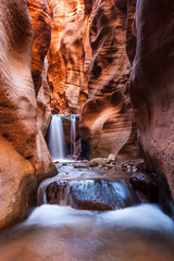 Kanarra creek slot canyon in Zion national park, Utah