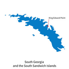 Map of South Georgia and Sandwich Islands with capital city