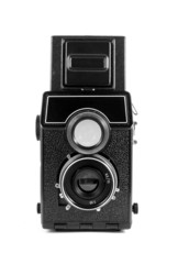 isolated old twin reflex camera
