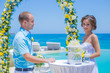 Wedding Ceremony at the Tropical Coast Line