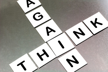magnetic letters spelling think again