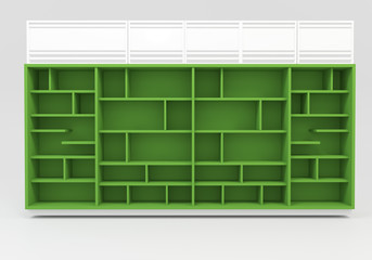 Green Book shelves