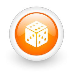 game orange glossy web icon on white background.
