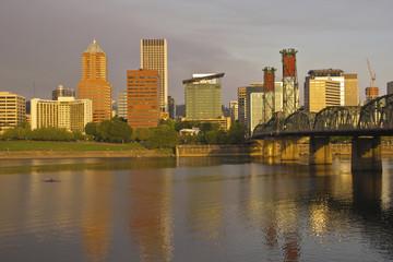 Portland Oregon in morning light.
