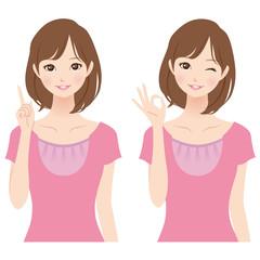 女性 表情 セット