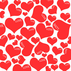 Red hearts and LOVE wording.